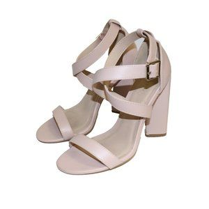 Charlotte Russe Strappy Pink Block Heel Shoes